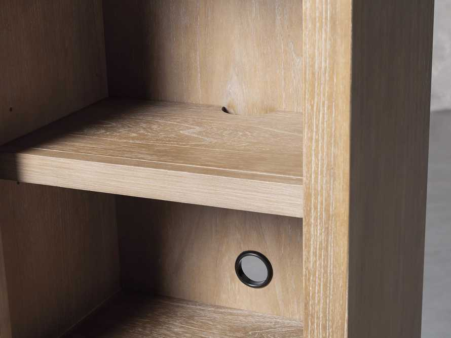 """Tremont Modular 20"""" Bookcase with Brass Handles in DRY BRANCH NATURAL, slide 8 of 10"""