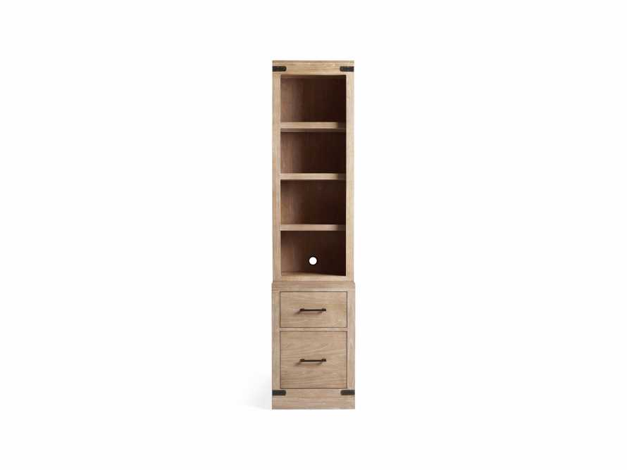 """Tremont Modular 20"""" Bookcase with Brass Handles in DRY BRANCH NATURAL, slide 9 of 10"""