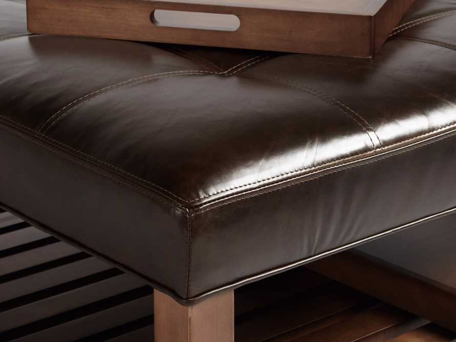 "Butler Leather 39"" Biscuit Tufted Ottoman, slide 3 of 4"