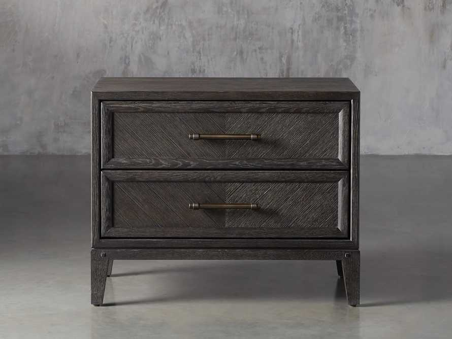 Aventine Two Drawer Nightstand, slide 2 of 10