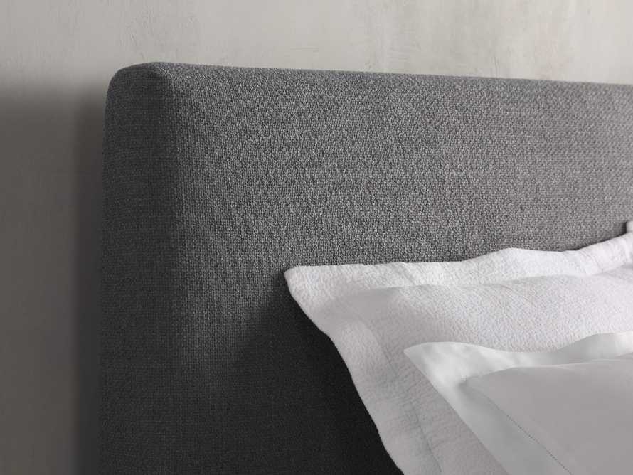 Beck King Bed in Moto Flannel and Shadow, slide 4 of 7