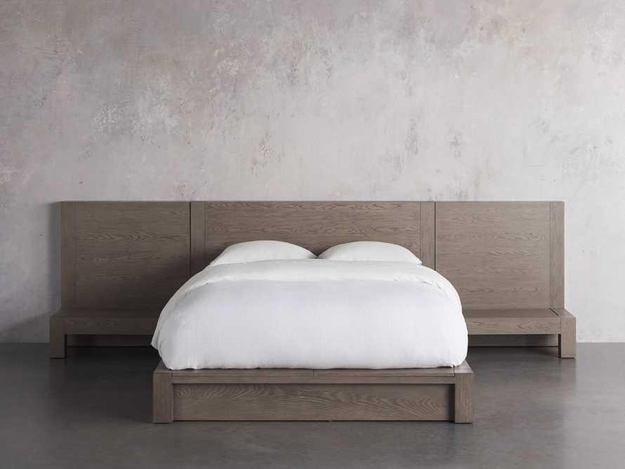 Bodhi Queen Extended Headboard Storage Bed in Salvaged Grey, slide 3 of 7
