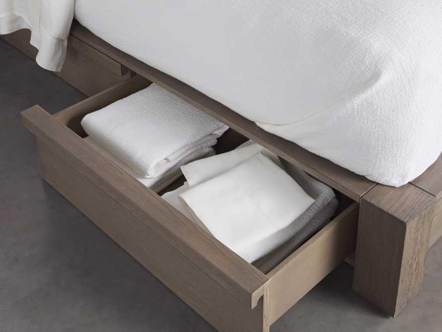 Bodhi Queen Extended Headboard Storage Bed in Salvaged Grey, slide 6 of 7