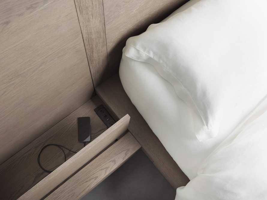 Bodhi Queen Extended Headboard Storage Bed in Salvaged Grey, slide 5 of 7