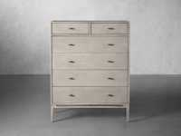 Brock Two over Four Tall Dresser in Boulder Grey
