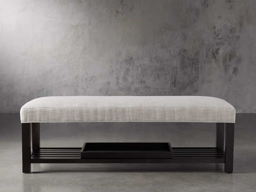 "Chambers Upholstered 60"" Non-Tufted Bench, slide 1 of 9"