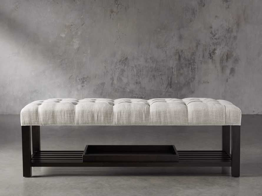 Chambers Tufted Bench in Dasher Ash, slide 1 of 9