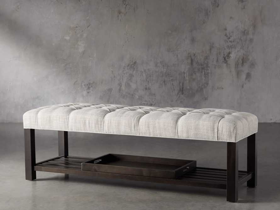Chambers Tufted Bench in Dasher Ash, slide 3 of 9