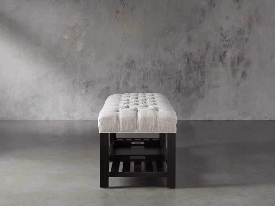 Chambers Tufted Bench in Dasher Ash, slide 4 of 9