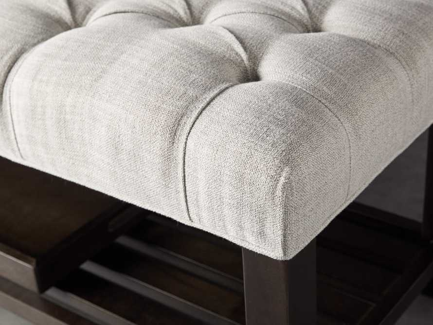 Chambers Tufted Bench in Dasher Ash, slide 6 of 9
