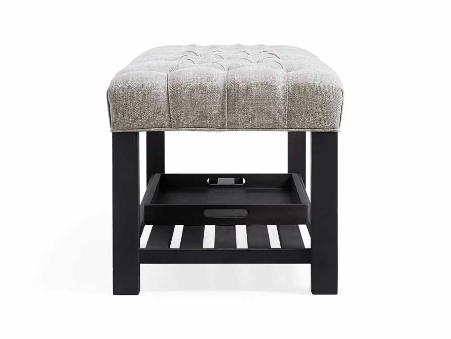 Chambers Tufted Bench in Dasher Ash, slide 8 of 9