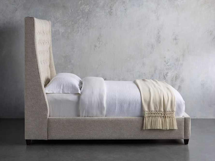 "Devereaux Queen 70"" Upholstered Tufted Bed in Plush Linen, slide 3 of 7"
