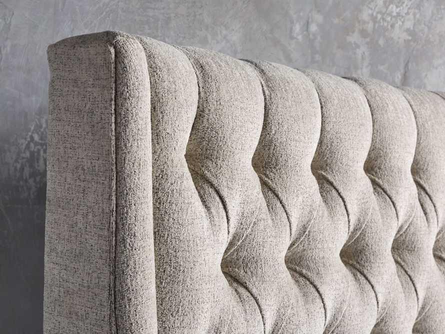 "Devereaux Queen 70"" Upholstered Tufted Bed in Plush Linen, slide 4 of 7"