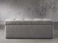 """Devereaux Upholstered 55"""" Tufted Storage Bench in View Otter"""
