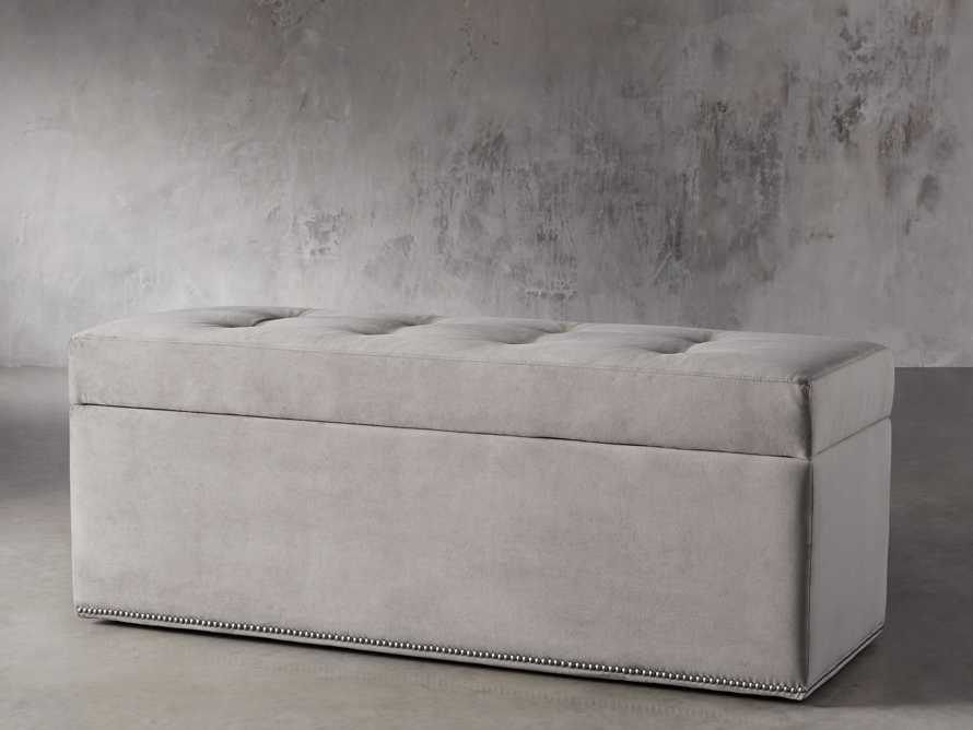 "Devereaux Upholstered 55"" Tufted Storage Bench"