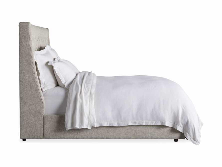 "Devereaux Queen 63"" Upholstered Tufted Storage Bed in Plush Linen, slide 11 of 11"