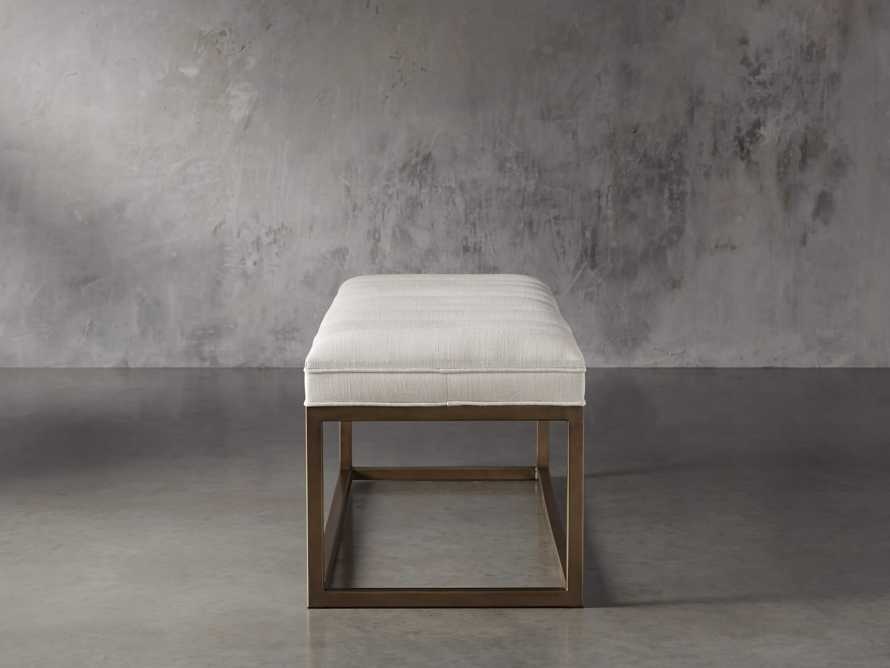 "Edie 55"" Bench in Devere Ivory and Brass, slide 5 of 7"