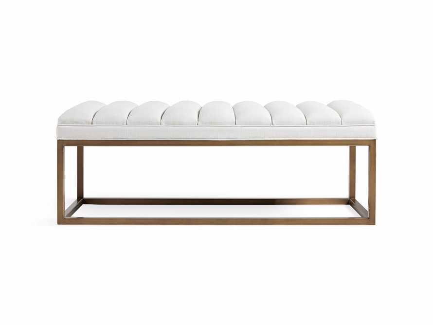 "Edie 55"" Bench in Devere Ivory and Brass, slide 7 of 7"