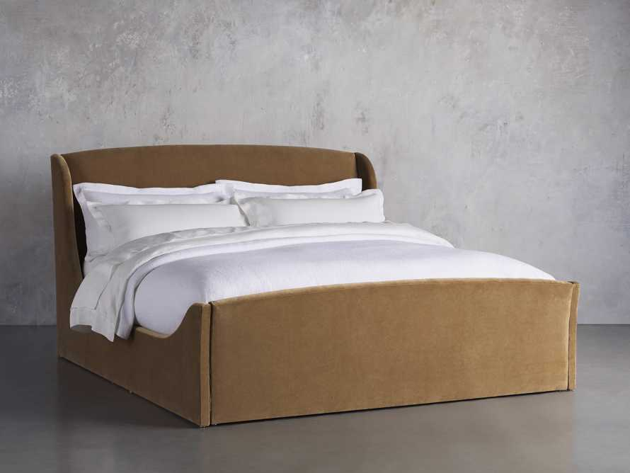 Ella King Bed in Gracy Caramel, slide 2 of 6