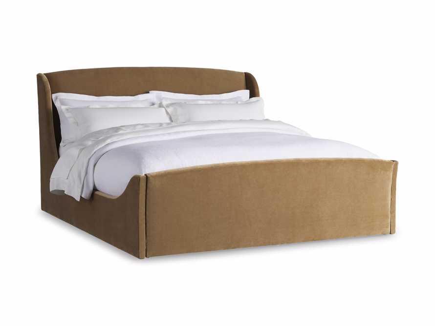 Ella King Bed in Gracy Caramel, slide 6 of 6