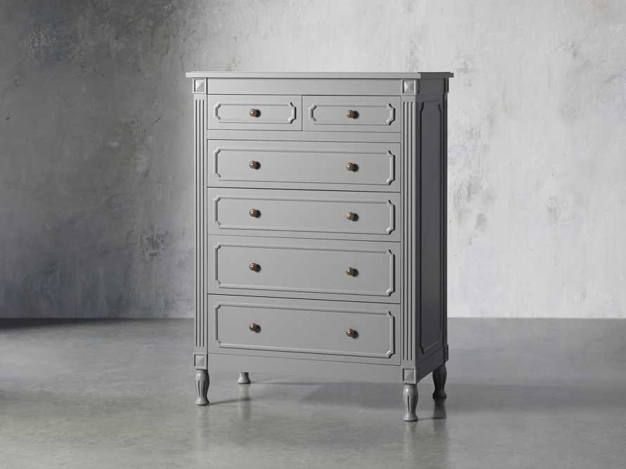 Evelyn Two Over Four Drawer Dresser in Stratus, slide 2 of 8