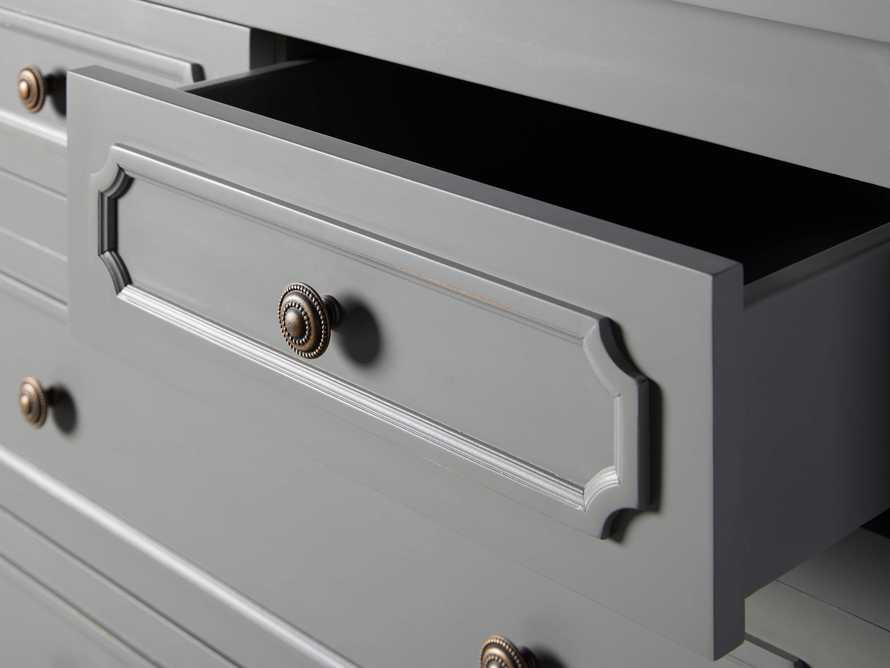 Evelyn Two Over Four Drawer Dresser in Stratus, slide 6 of 8