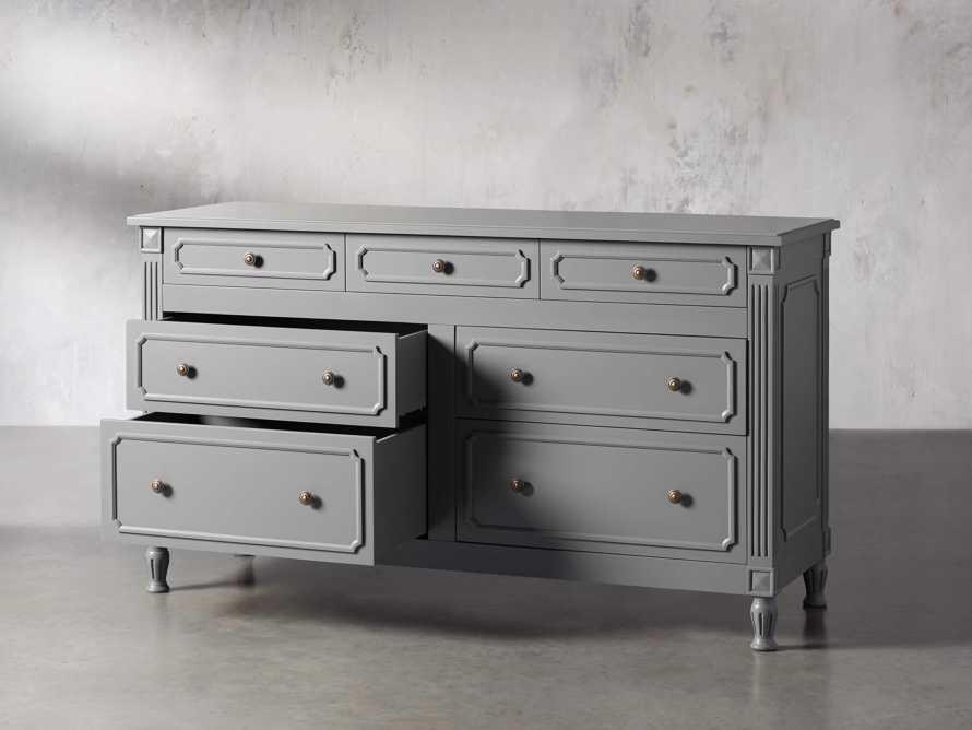 Evelyn 7 Drawer Dresser in Stratus, slide 3 of 9