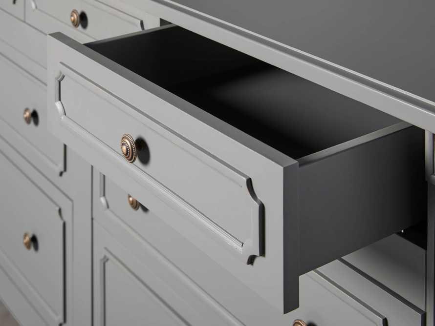 Evelyn 7 Drawer Dresser in Stratus, slide 6 of 9