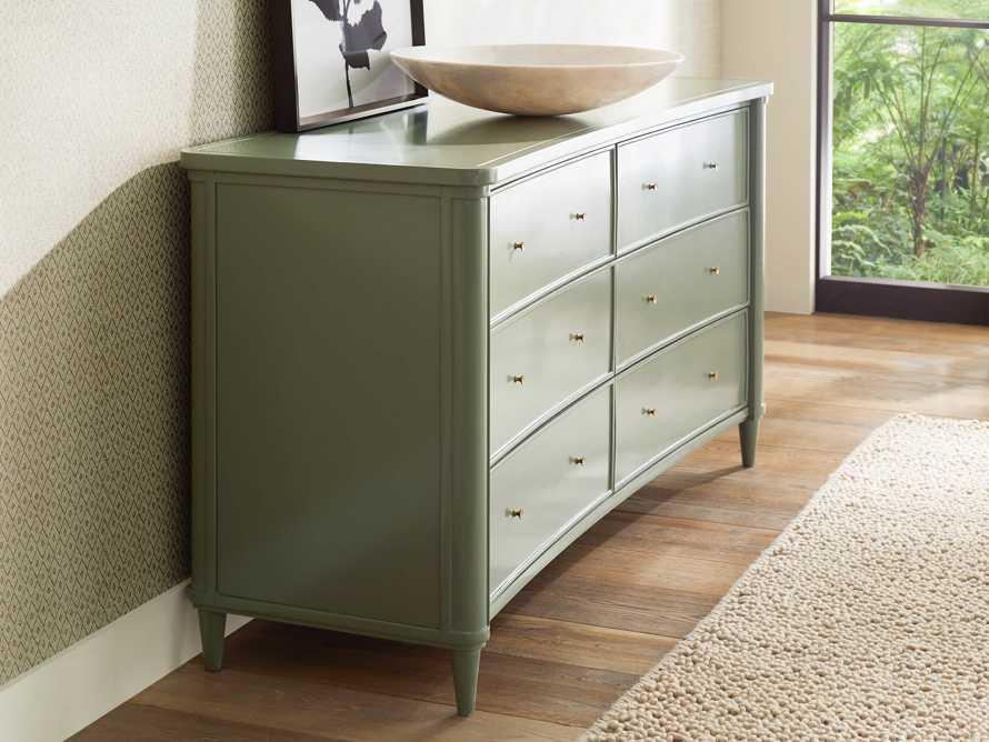 Henley Wide Dresser in Doma Verde, slide 3 of 4