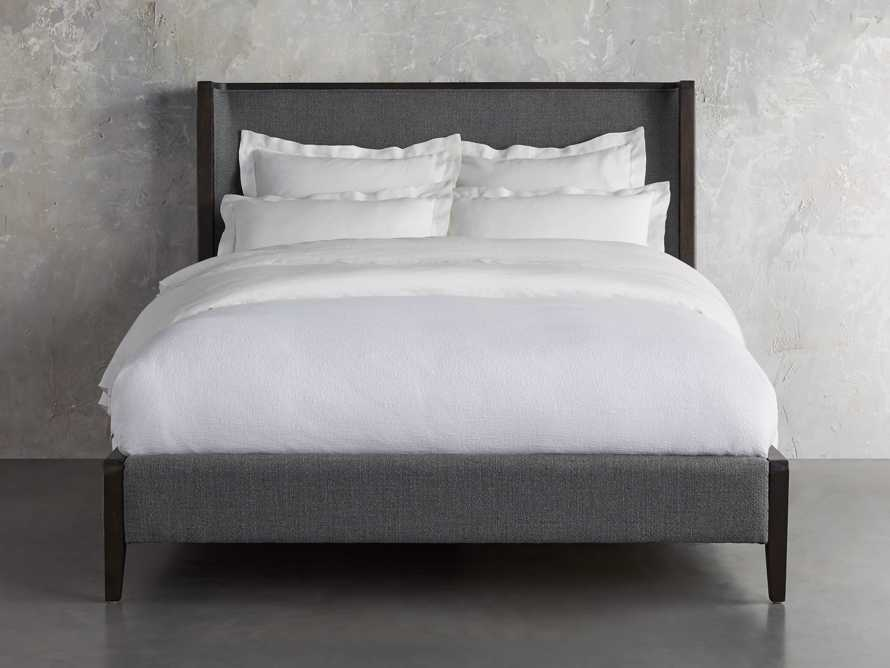 Lincoln Queen Bed in Moto Flannel Shadow, slide 2 of 5