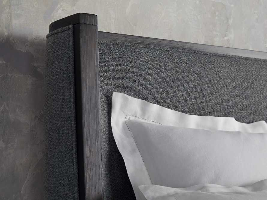 Lincoln Queen Bed in Moto Flannel Shadow, slide 4 of 5