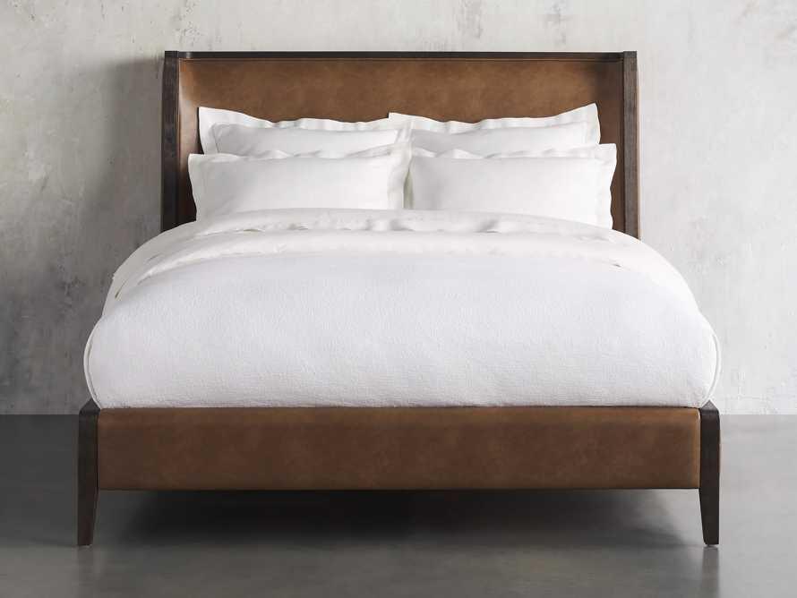 Lincoln Queen Bed in Copley Brown Shadow, slide 2 of 6
