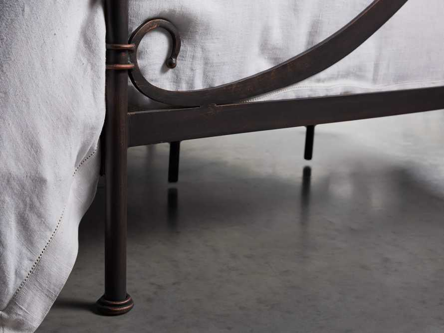 """St Lucia 63"""" King Iron Bed In Rust"""