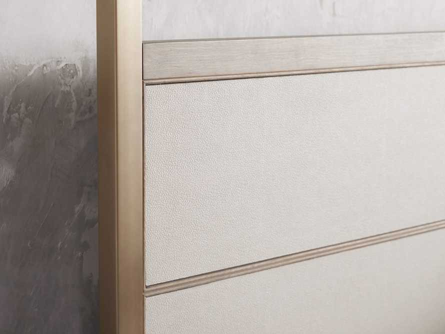 "Malone 84"" King Canopy Bed in Shagreen Bone, slide 5 of 7"