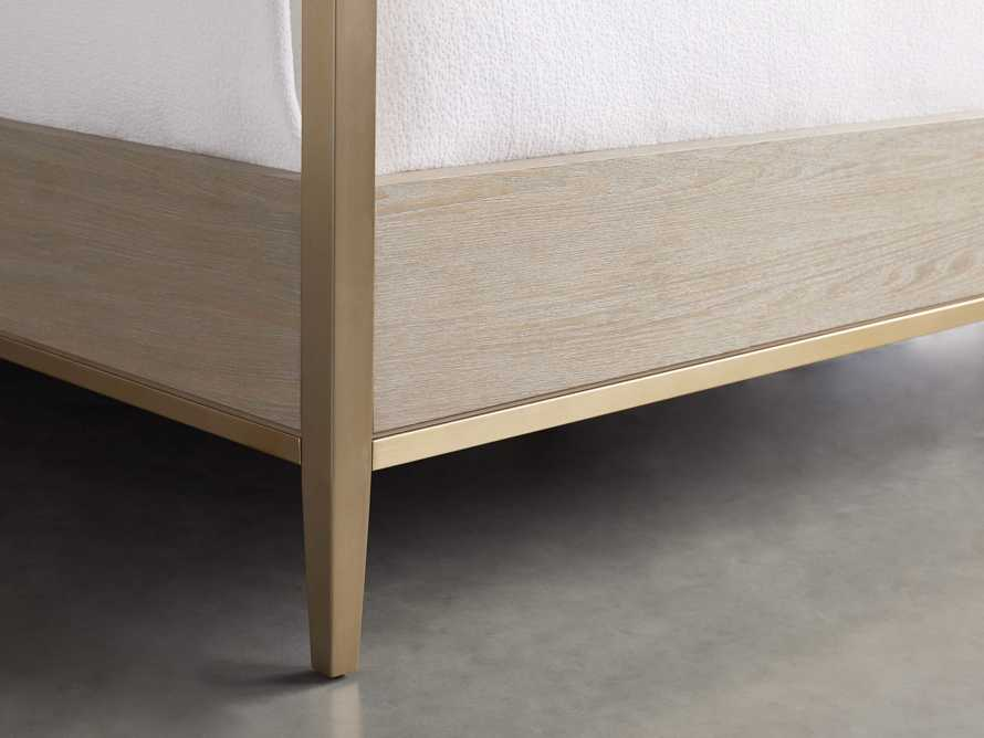 "Malone 84"" King Canopy Bed in Shagreen Bone, slide 6 of 7"