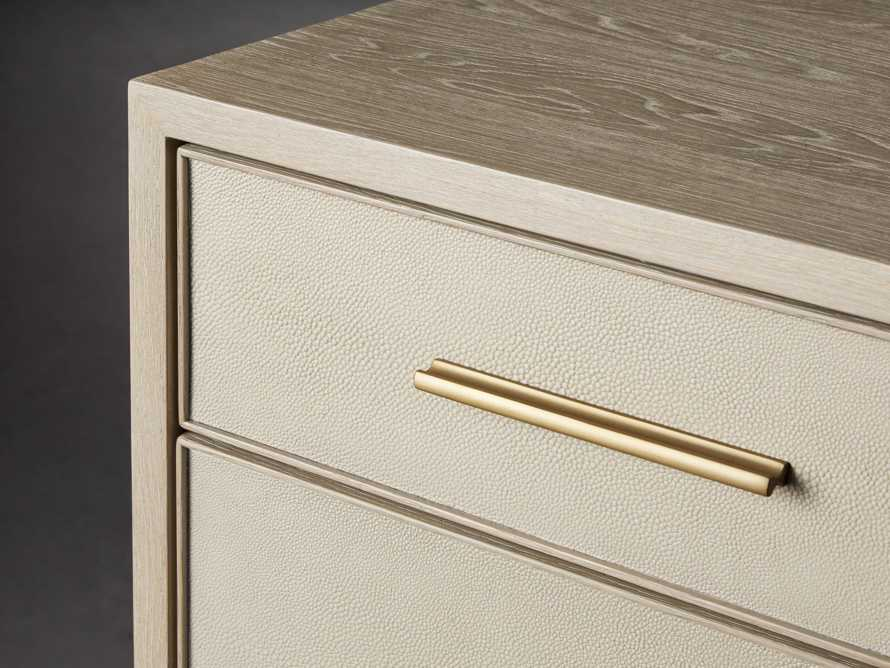 "Malone 40"" Two Over Three Drawer Dresser in Shagreen Bone, slide 5 of 8"