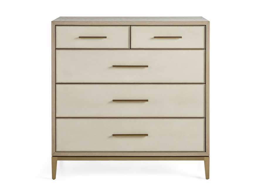 "Malone 40"" Two Over Three Drawer Dresser in Shagreen Bone, slide 7 of 8"