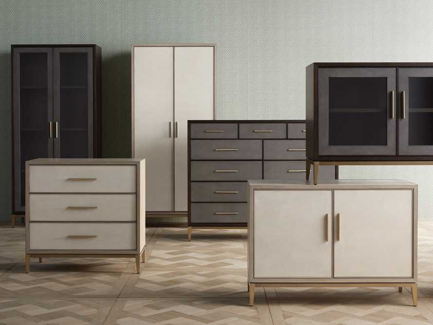 "Malone 36"" 3 Drawer Chest in Shagreen Bone, slide 7 of 9"