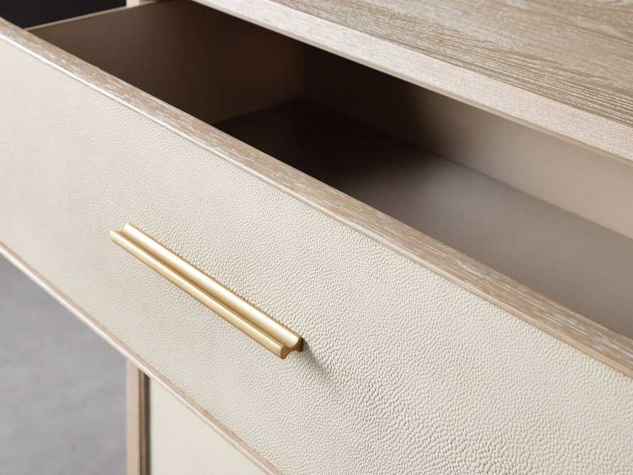 "Malone 36"" 3 Drawer Chest in Shagreen Bone, slide 5 of 9"
