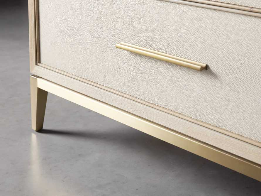 "Malone 36"" 3 Drawer Chest in Shagreen Bone"