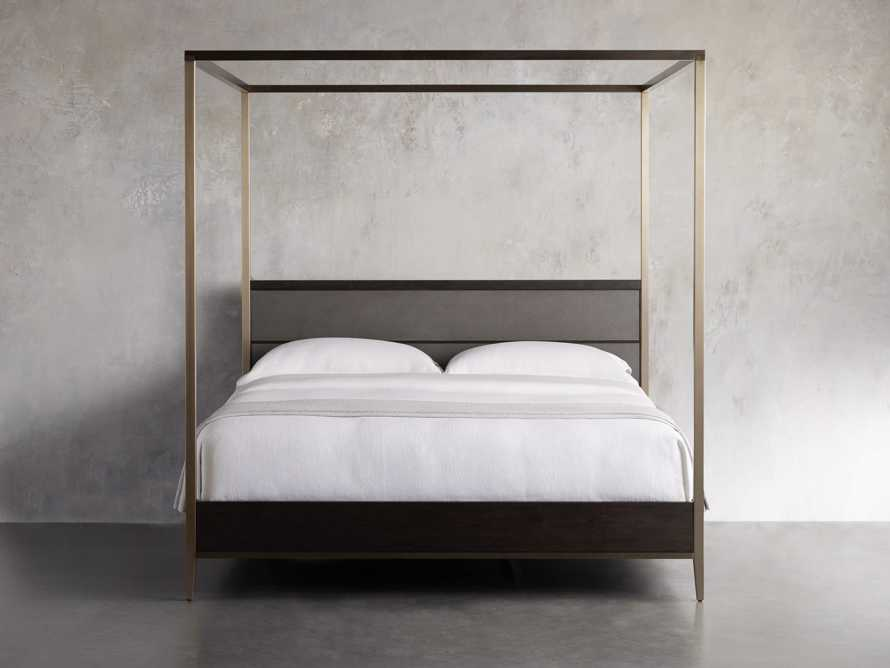 Malone Queen Canopy Bed in Sparrow, slide 2 of 6