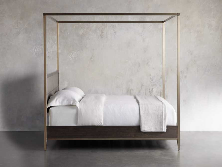 Malone Queen Canopy Bed in Sparrow, slide 3 of 6