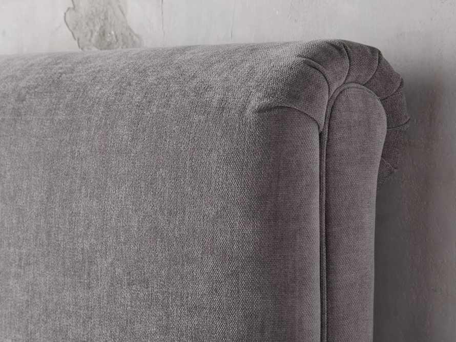 Nolan Queen Upholstered Tufted Headboard in Dayo Cement, slide 2 of 4