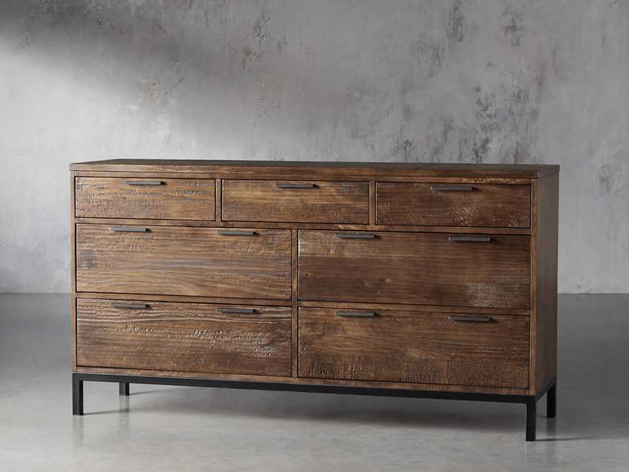 Palmer Seven Drawer Dresser in Bali Brown, slide 2 of 8
