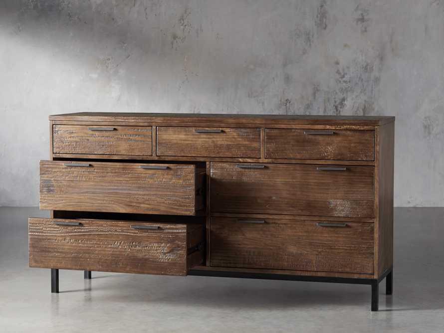 Palmer Seven Drawer Dresser in Bali Brown, slide 3 of 8