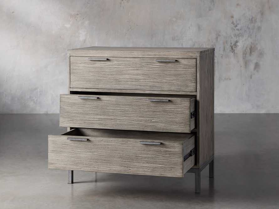 Palmer 3 Drawer Dresser in Stone on Ash