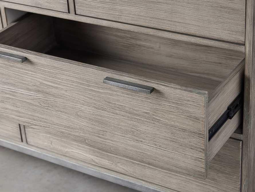 "Palmer 63"" 7 Drawer Dresser in Stone on Ash"