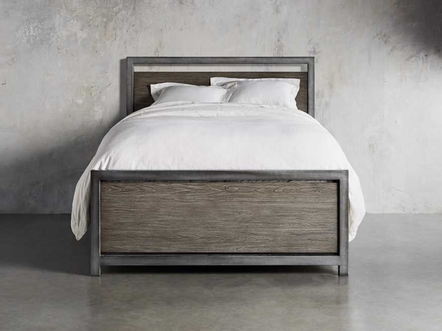"Palmer 54"" Storage King Bed in Stone on Ash, slide 4 of 9"