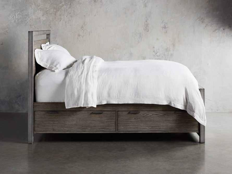"Palmer 54"" Storage King Bed in Stone on Ash"