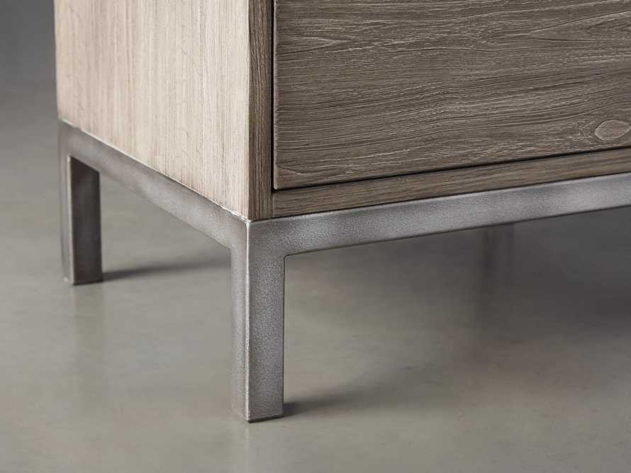 """Palmer 19"""" Nightstand in Stone on Ash"""